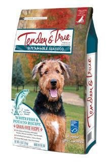 Image of Tender & True 854026 Sustainable Seafood Ocean Whitefish & Potato Recipe 11 Lb Bag Dry Dog Food, One Size