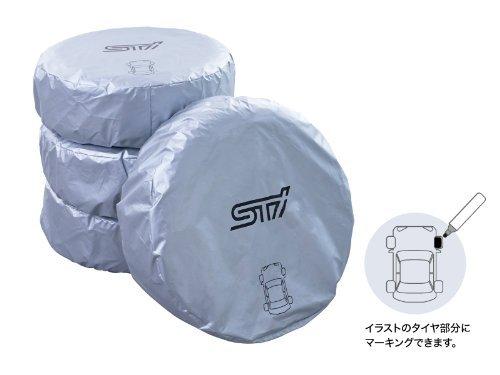 SUBARU/スバル STI【マーカー付きタイヤカバー(4枚セット) Mサイズ】STSG13100030 B01N7GQSPB