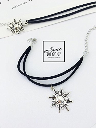 [Tide] Korean Institute of retro to do the old double-black sunflowers silver jewelry bracelet exaggerated hand - Old Silver Ring Double Jewellery