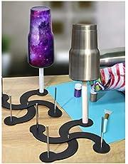 حامل حامل تجفيف لكأس دوارة ، 4 أكواب تيرنر تجفيف في الوقت المحدد DIY Craft Glitter Epoxy Cup Holder ، مادة فولاذية غير مؤلمة ومناسبة لقطر مختلف (2 قطعة)