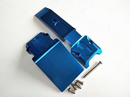 Alloy Aluminum Front Skid Plate for Traxxas 1/10 REVO REVO 3.3 E-REVO Summit Blue ()
