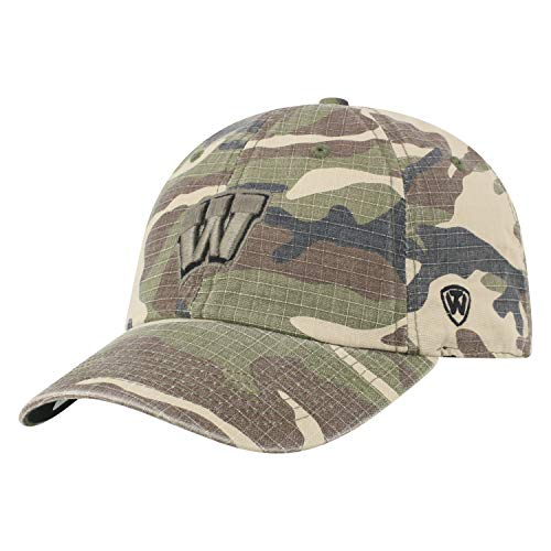 (University of Wisconsin Badgers Men's Camo Hat Heroes Woodland Camo Cap)