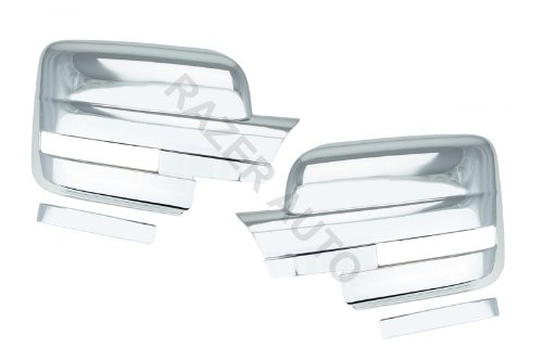 Razer Auto W/LIGHT CHROME MIRROR COVER for 2009-2014 FORD F150