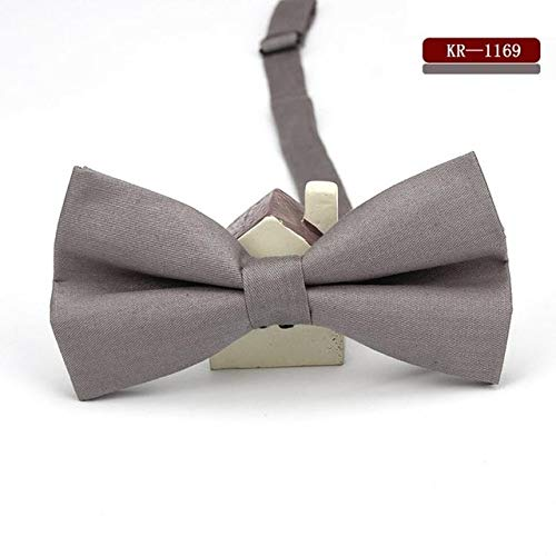 Graven KR1167-1179 Men's Bow Tie Adjustable 100% Cotton Butterfly Cravat Red Blue Pink Solid Color Bowtie Tuxedo Bows Male Accessories - (Color: MBKR 1169)