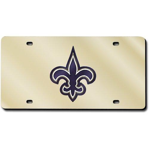 - New Orleans Saints Laser Cut Gold License Plate