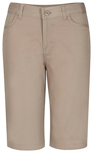 Classroom School Uniforms Juniors Stretch Matchstick Short, Khaki 7/8