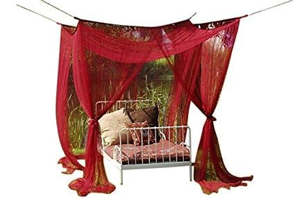 Zanzariera Letto Matrimoniale : Bel baldacchino per letto con zanzariera per letto singolo o per