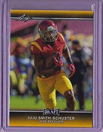 e93aa507c3f 2017 Leaf Draft Gold #45 JuJu Smith-Schuster - Rookie Year at ...