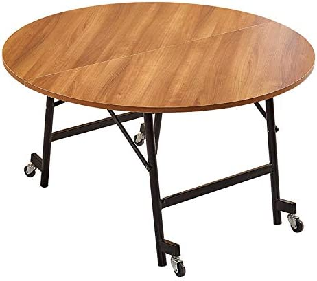 Yikui Table Menages Pliante Grande Table Ronde Simple En