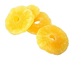 Anna and Sarah Dried Pineapple Rings in Resealable Bag, 1 Lb