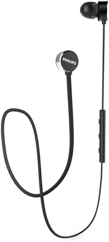 Philips Auriculares Bluetooth UN102BK/00 Wireless In Ear Headphones (Bluetooth, Controlador de 6 mm, Carga Rápida, Aislamiento de Ruido), Negro, One Size
