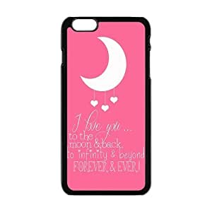 I Love You To The Moon And Back Custom Phone Case For iPhone 6 plus 5.5 Hard Case Cover Skin by runtopwell
