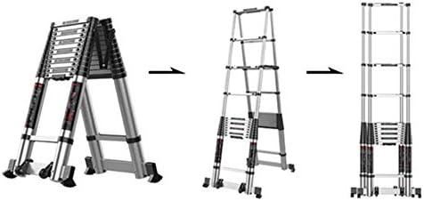 HYDT Escalera Telescópica de Ingeniería Profesional para Mantenimiento de Edificios Bricolaje, Escaleras Ligeras de Extensión de Aluminio, Carga 150kg (Size : 3.1m/10.17ft(3.1m+3.1m)): Amazon.es: Hogar