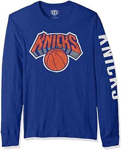 OTS Adult NBA Men's Slub Long Sleeve Team Name Tee, Distressed Sinclair, Medium