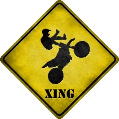 Cross String Wire (Smart Blonde Motorcross Xing Novelty Metal Crossing Sign CX-092)