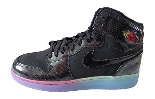 Nike Air Jordan 1 Retro Hi Prem Gg Hi Sneakers 705296 Gymnastikskor Svart Svart Fuchsia Flash 025