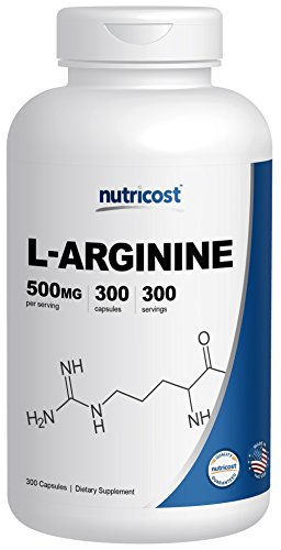 Nutricost L Arginine 500mg, 300 Capsules