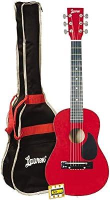 Lauren LAPKMRD-A - Guitarra para estudiante (6 cuerdas, metálica ...