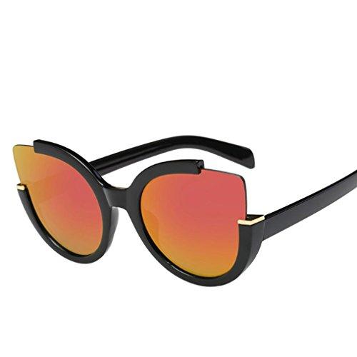 Price comparison product image Creazy Adults Vintage Retro Glasses Unisex Fashion Aviator Mirror Lens Sunglasses (e)