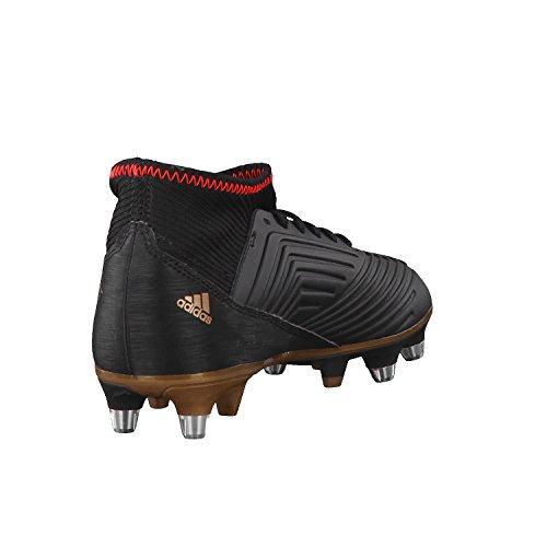 adidas Jungen Predator 18.3 SG J Fußballschuhe Schwarz (Cblack/Ftwwht/Solred Cblack/Ftwwht/Solred)