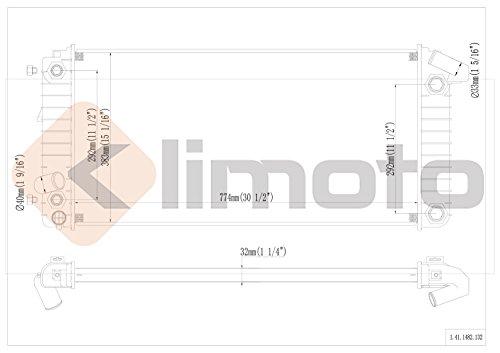 41siq7D7IEL buy klimoto brand new radiator fits cadillac deville 1993 1999