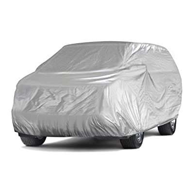 CarsCover 100% Sunblock Mini Van Fit Up to 195 inch Minivan Car Cover
