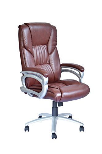 BestSalon New High Back Leather Executive Office Desk Task Computer Chair w/Metal Base 15R