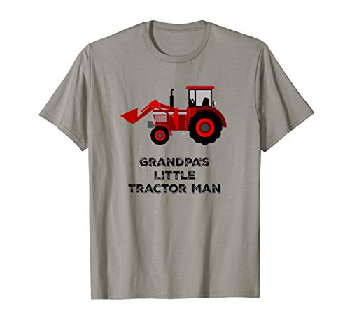 Farm T Shirts: Tractor Kid, Grandpa's Little Tractor Man Tee (Alis Tractor)