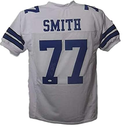 premium selection 704eb 873a6 Tyron Smith Autographed/Signed Dallas Cowboys XL White ...
