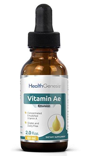 Liquid Vitamin Ae Emulsion 12 500 Iu Per Drop 2 Oz   Vitamin A E Drops   Anti Aging   Immune System Support   Energy   Promotes Health   Antioxidant
