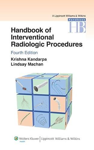 handbook of interventional radiologic procedures lippincott rh amazon com Interventional Radiology Anatomy Interventional Radiology Clip Art