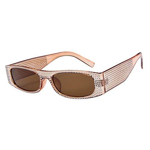 (POHOK Elvis Rockstar 50's, 60's Style Aviator Shades, Diamond Gold Celebrity Sunglasses)