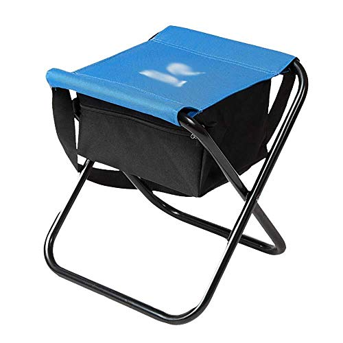 YXNZ Portable Folding Camping Stool, Small Fishing Chair Lightweight Footrest, with Storage Bag, Ideal for Camping Fishing Picnic Garden Barbecue