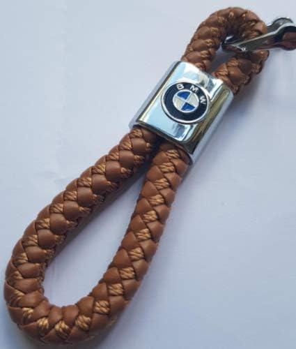 Rosso. Compatibile con BMW ELPCraft Accessori per Portachiavi Portachiavi in Pelle con Logo per Auto Portachiavi con Logo BMW Regalo per Uomo e Donna