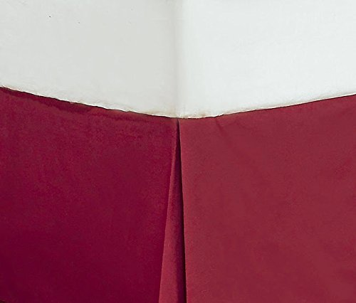11 Inches Drop Length. Burgundy Solid,Cal-King Size Italian Finish 100/% Egyptian Cotton 400-TC 1PC Tailored Bedskirt