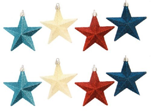White Star Ornament (Darice Shatterproof Glitter Star Ornament)