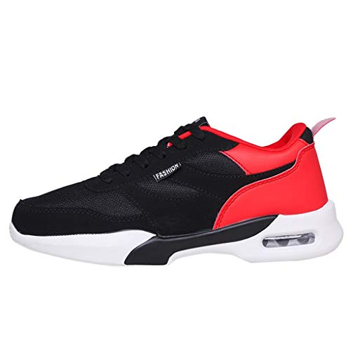 JJLIKER Mens Air Cushion Sneakers Fashion Running Shoes Mesh Lightweight Athletic Tennis Sport Shoes for Summer