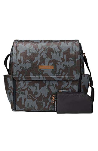 petunia pickle bottom Unisex Matte Leatherette Boxy Backpack Camo Leatherette One Size