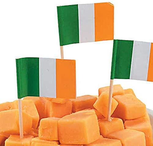 Fun Express 50 Irish Food Flag Picks Cupcakes Sandwich's Ireland St. Patricks Day