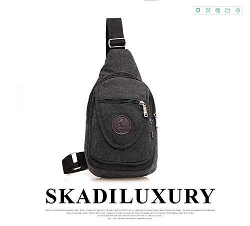 Cover Soft pack travel bag Black Shoulder Solid canvas climbing Bags color Ride backpack Messenger on rock Chest foot wUqpB1x