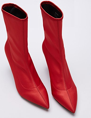 FIND Bottines Chaussettes Talons Aiguille Femme Rouge (Red) xF4mIiu8