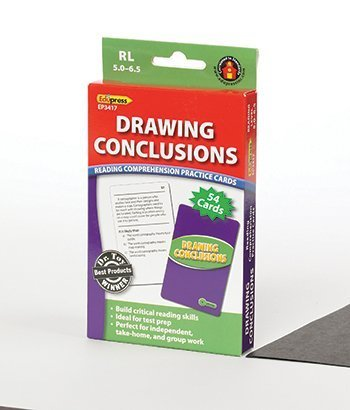 Edupress Drawing Conclusions Cards Reading Levels 5.0-6.5 by Edupress
