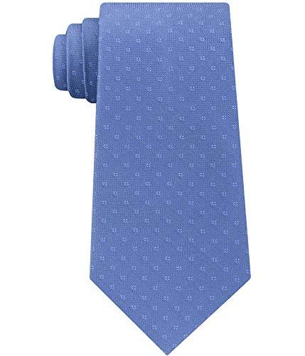 Calvin Klein Men's Micro Four Dot Square Silk Tie (Blue, ONE SIZE)