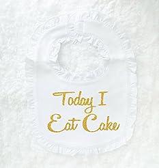 First birthday bib, today I eat cake bib...