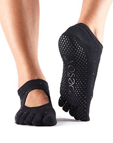 ToeSox Women's Bella Full Toe Grip Non-Slip for Yoga, Pilates, Barre, Ballet Toe Socks (Nightlife) Small