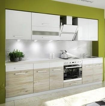 Küche Schränke Küchenzeilen CUBA LIBRE 280/220 cm Weiss ...