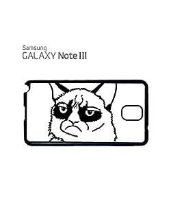 Grumpy Cat Cartoon Meow Geek Mobile Cell Phone Case Samsung Note 3 Black