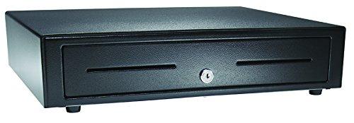 APG VB320-BL1616 Standard-Duty Cash Drawer, Vasario Series, Multipro 24V, Fixed 5'' x 5'' Till, 16'' x 16'' Size, Black