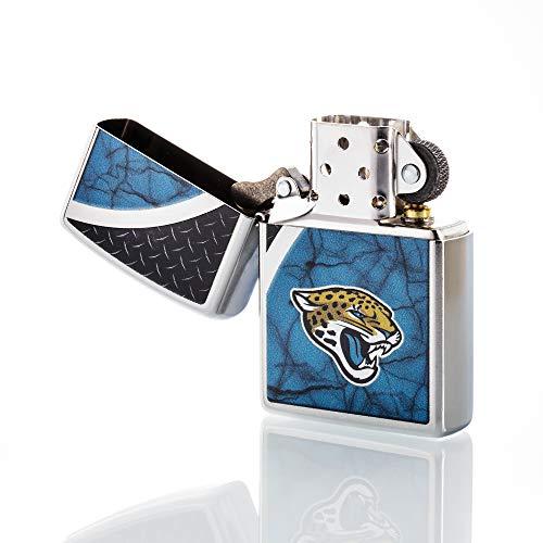 (Zippo NFL Jacksonville Jaguars Refillable Lighter, Teal, One Size )