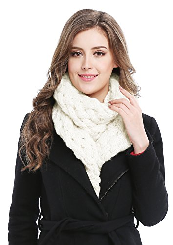 Unisex Winter Thick Chunky Cable Knit Twist Scarf Warm Shawl